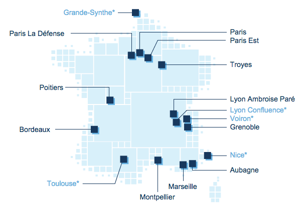 carte de France Point Vision