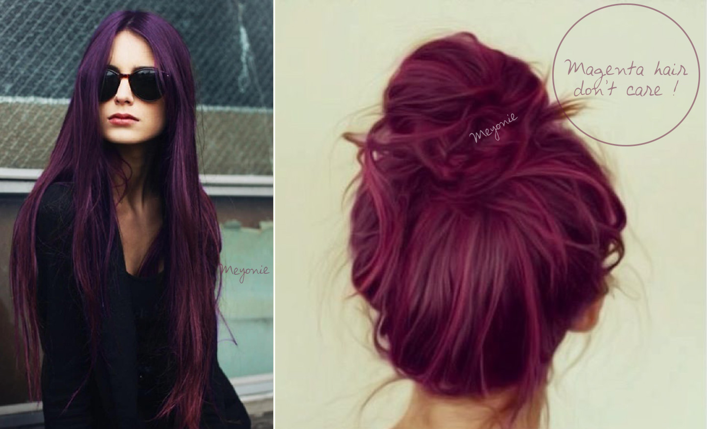 Photo couleur cheveux violet