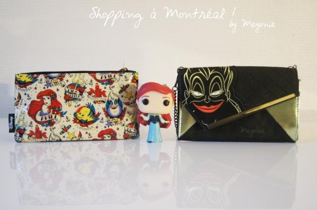shopping-à-Montréal-Meyonie-la-petite-sirène-disney-pochettes-et-figurine-pop