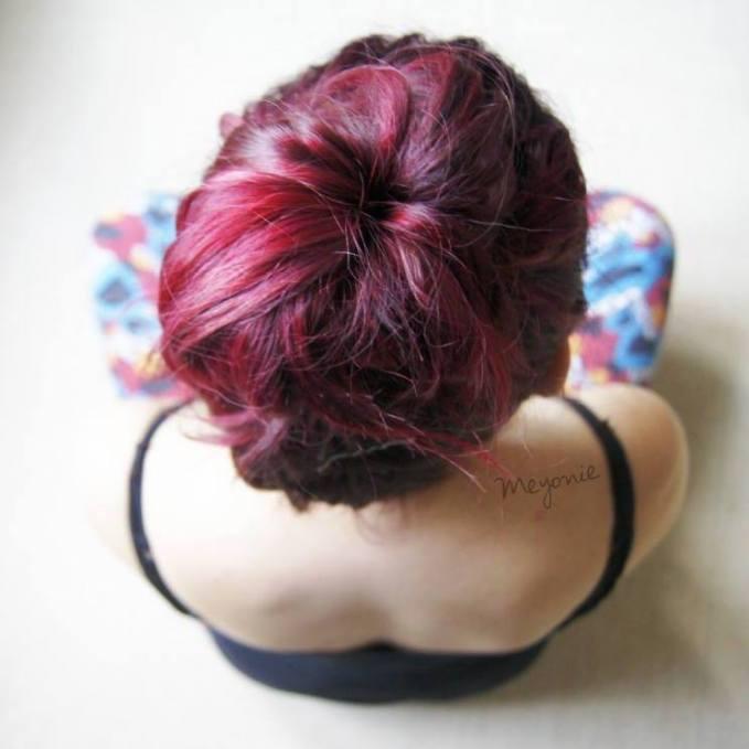 cheveux magenta Meyonie