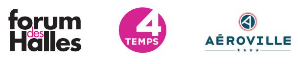 logo forum des halles 4 temps la défense aéroville