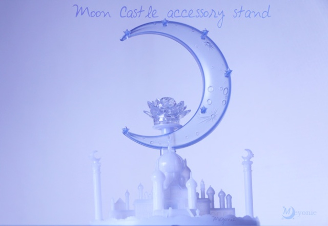 sailor-moon-moon-Castle-accessory-stand-lotus-silver-crystal-gashapons-Meyonie-complet-collection