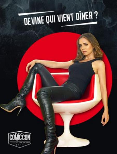 Devine qui vient diner au comic con paris 2016 eliza dushku meyonie