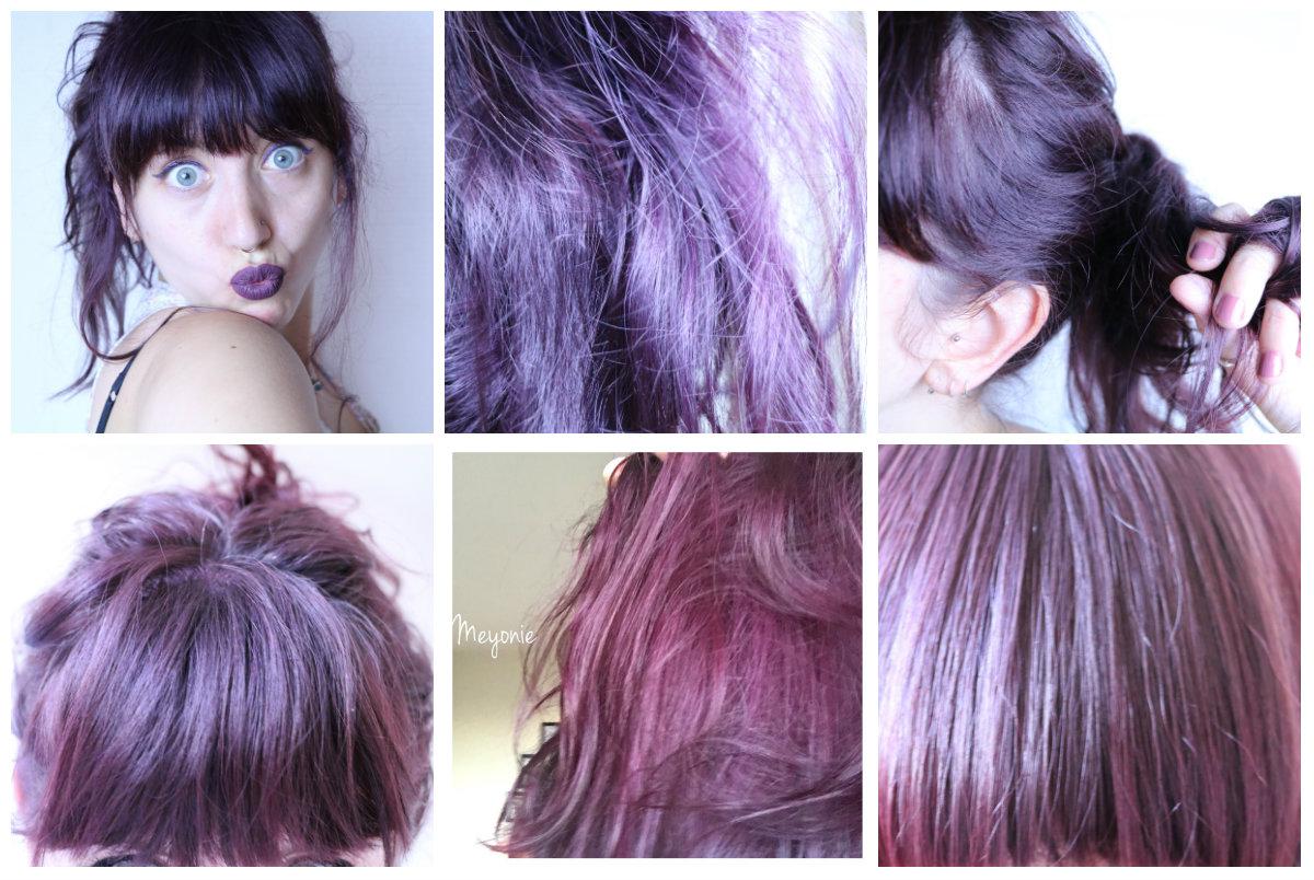 Teindre cheveux en mauve